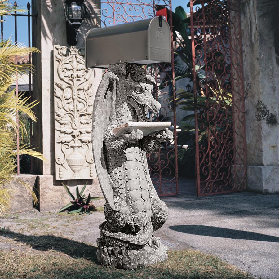 ドラゴン 郵便 ポスト アート 彫刻 ホーム インテリア エクステリア 屋外 庭 ガーデン 飾り 石像 オブジェ