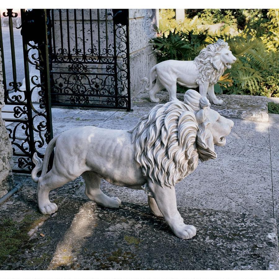 動物 ライオン 2匹 ゲート セット 玄関 ゲート アート 彫刻 ホーム 石像 彫刻 インテリア エクステリア 屋外 庭 ガーデン 飾り 石像 オブジェ, ウエスト:38279ae9 --- sunward.msk.ru