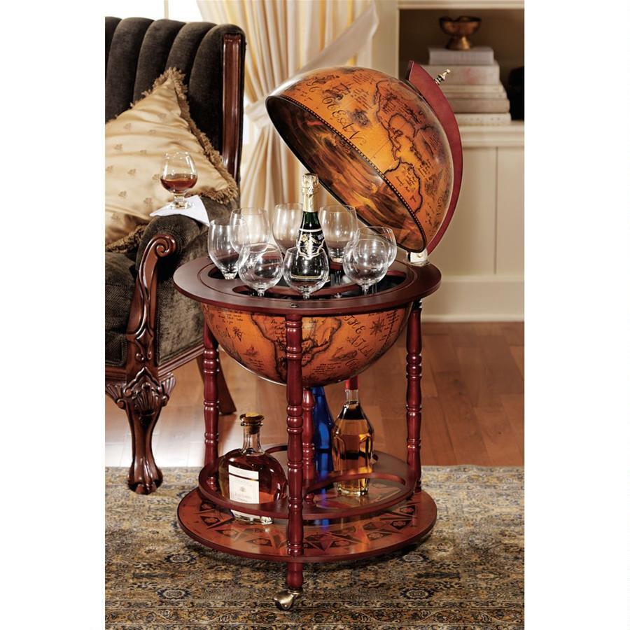 中世 イタリア 地球儀 アンティーク バーテーブル アート 彫刻 ホーム インテリア 飾り オブジェ