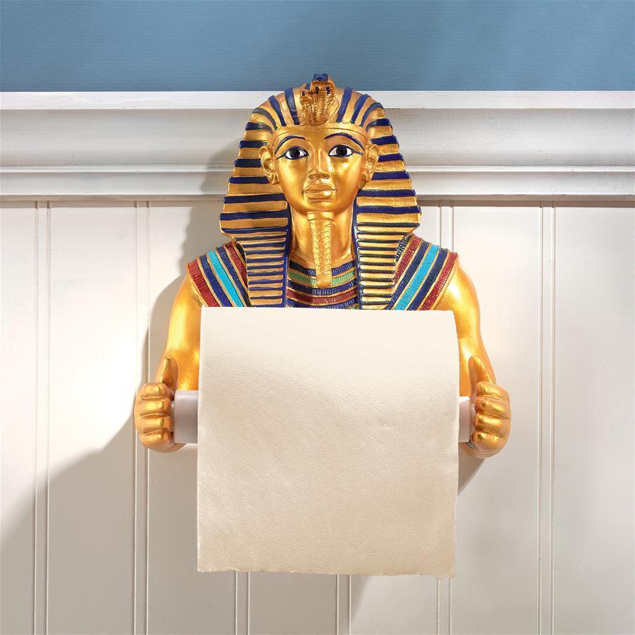 トイレットペーパーホルダー おしゃれ インテリア ツタンカーメン エジプト アンティーク インテリア