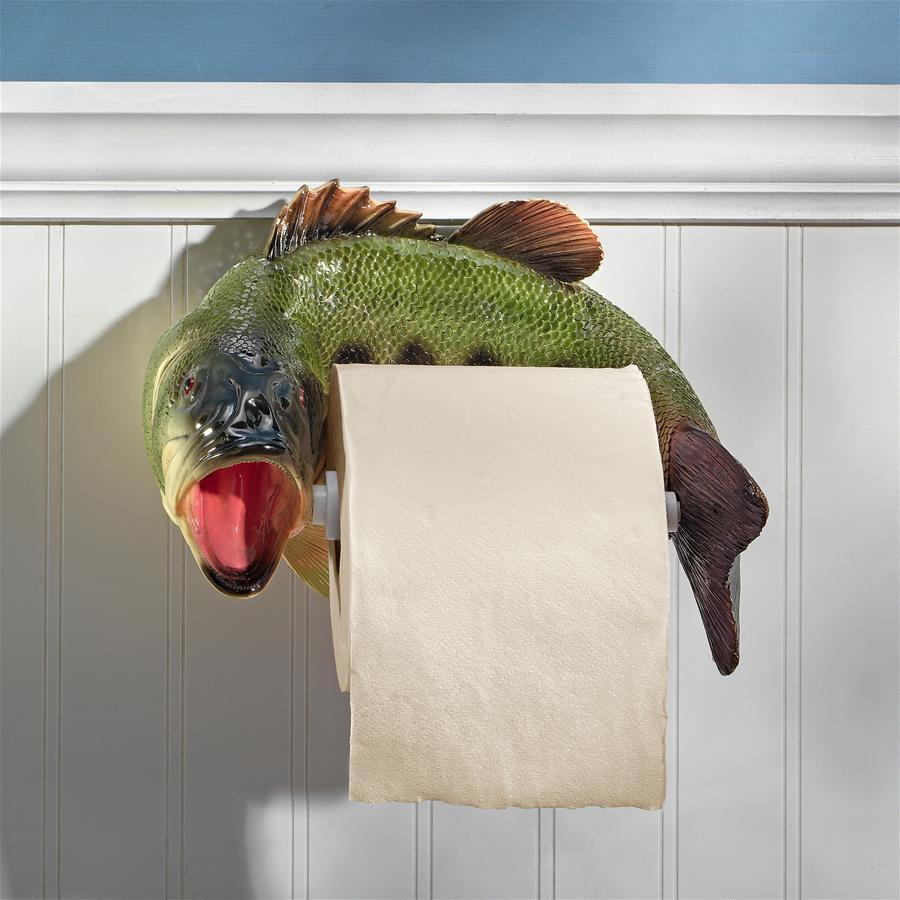 トイレットペーパーホルダー おしゃれ インテリア 魚 トラウト インテリア