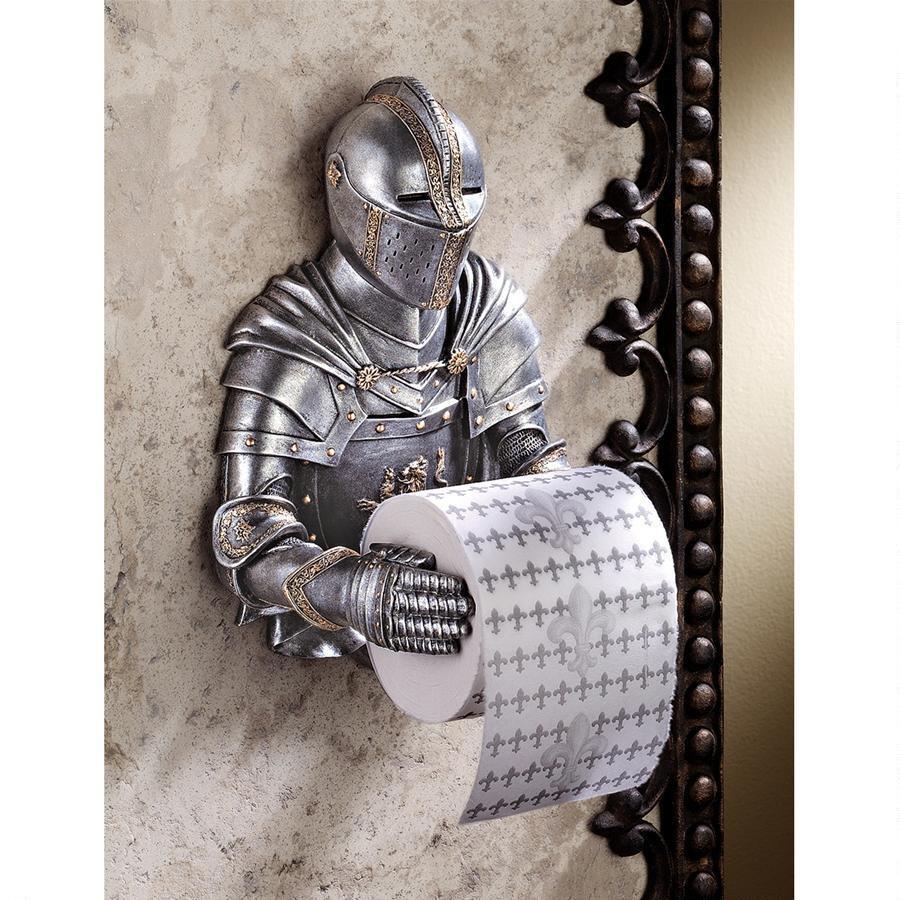 トイレットペーパーホルダー おしゃれ インテリア ヨーロッパ 中世 騎士 鎧 アンティーク インテリア