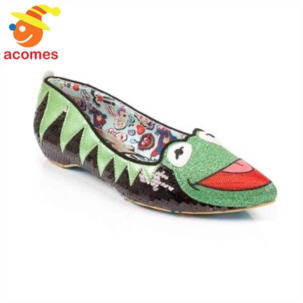 カーミット フラット シューズ 靴 イレギュラー チョイス IRREGULAR CHOICE コラボ カエル