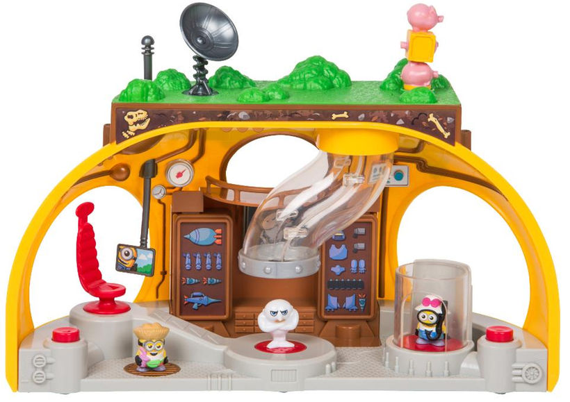 ミニオン おもちゃ 人形 フィギュア プレイセット 仕掛け付 グルーの隠れ家