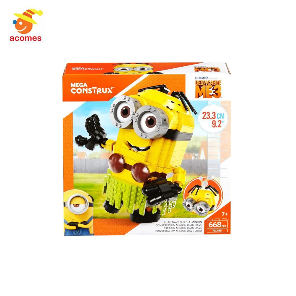 ルアウ ミニオン ハワイアン 海外 ブロック おもちゃ 貯金箱 Mega Construx 怪盗グルーのミニオン大脱走 グッズ