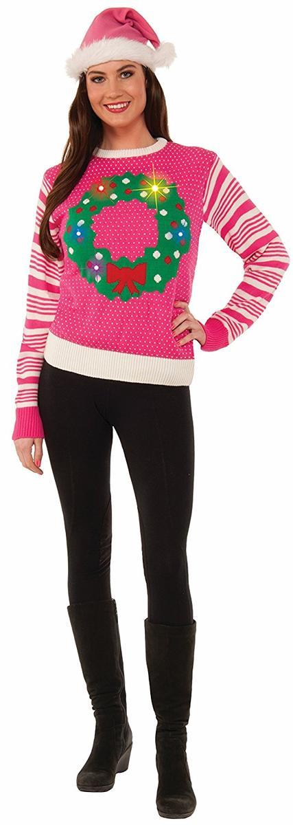 ピンク アグリーセーター 光る クリスマス コスプレ 仮装 コスチューム