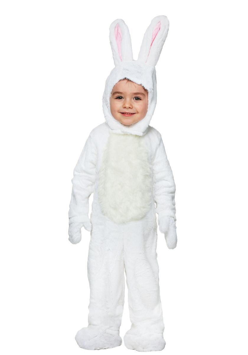 幼児 子供 ウサギ コスチューム 白 イースター コスプレ 仮装 きぐるみ