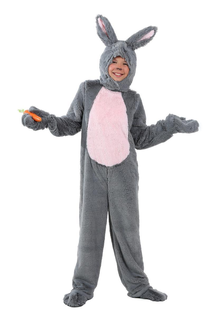子供 ウサギ コスチューム グレー イースター コスプレ 仮装 きぐるみ