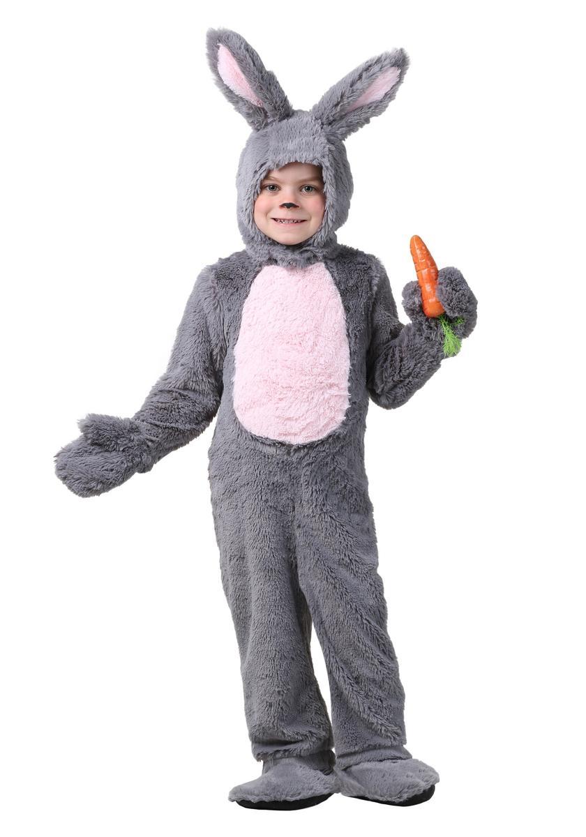 幼児 ウサギ コスチューム グレー イースター コスプレ 仮装 きぐるみ