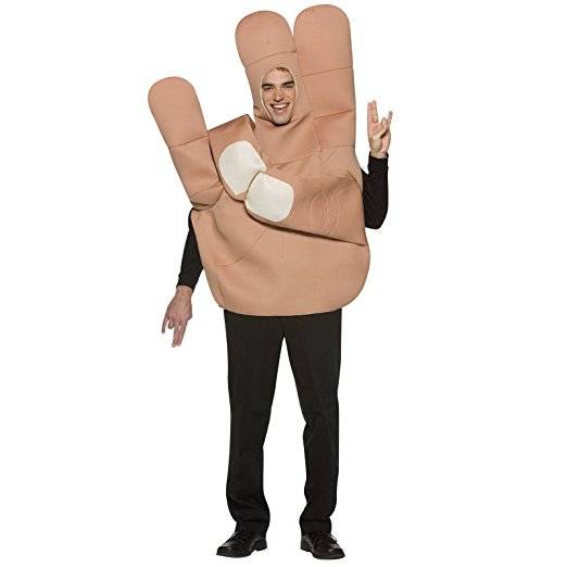 おもしろコスプレ ショッカー・サイン 手 指 コスチューム 大人 仮装 ジョークグッズ