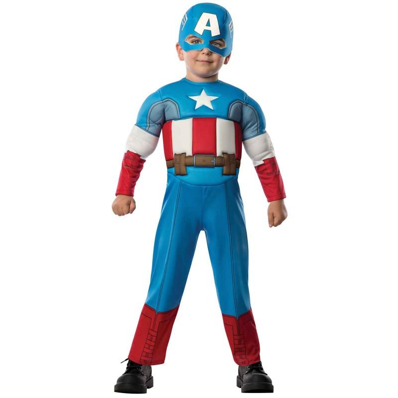 キャプテンアメリカ コスチューム 幼児 アベンジャーズ ヒーロー コスプレ 仮装 衣装