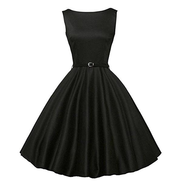 ダッパー ドレス オールディーズ 衣装 レディース ビンテージ ノースリーブ ワンピース ブラック ダッパーデイ