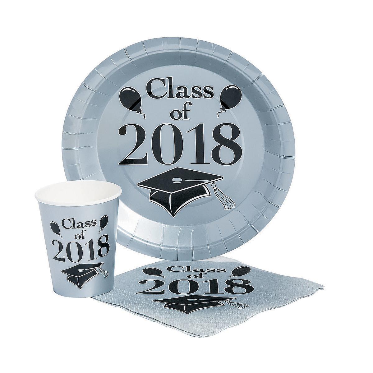 卒業式 パーティ 2018 使い捨て 食器 セット シルバー 50人用