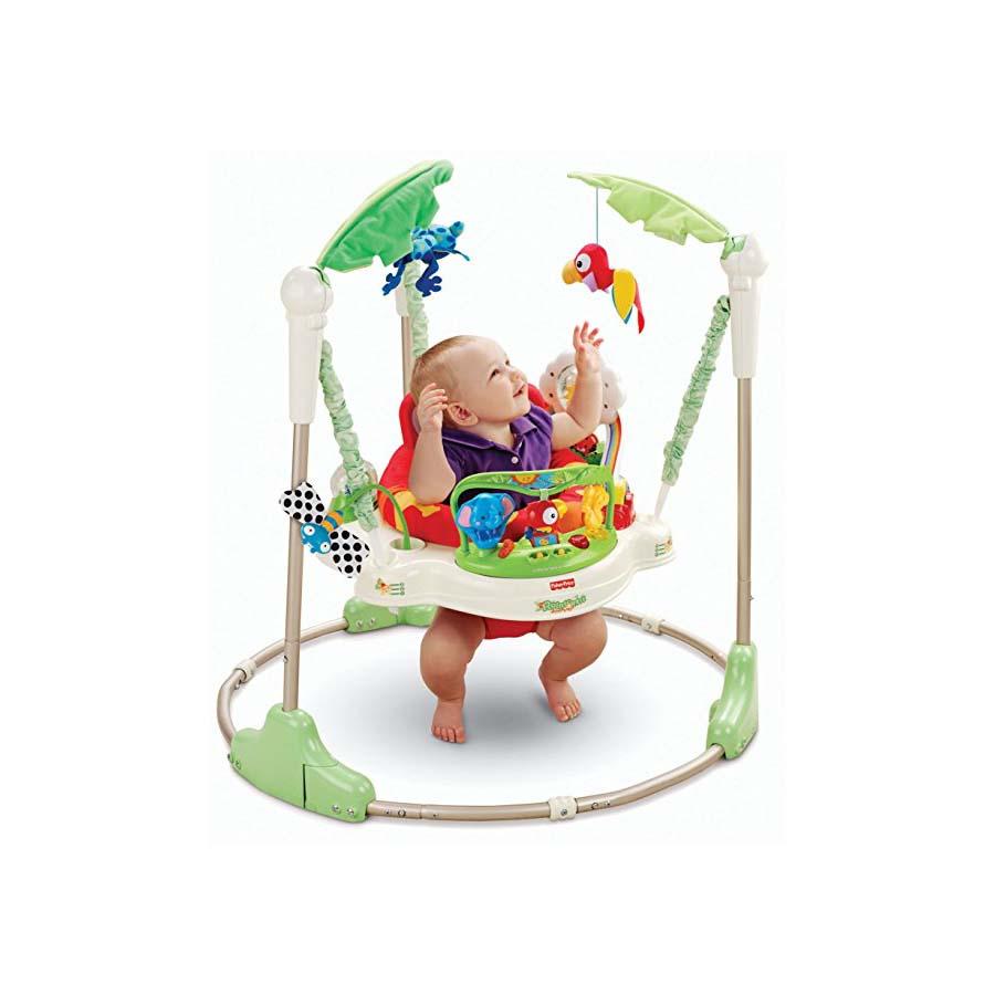 Fisher-Price フィッシャープライス レインフォレスト ジャンパルー 赤ちゃん ベビー 室内遊具 運動 折り畳める ポータブル おもちゃ