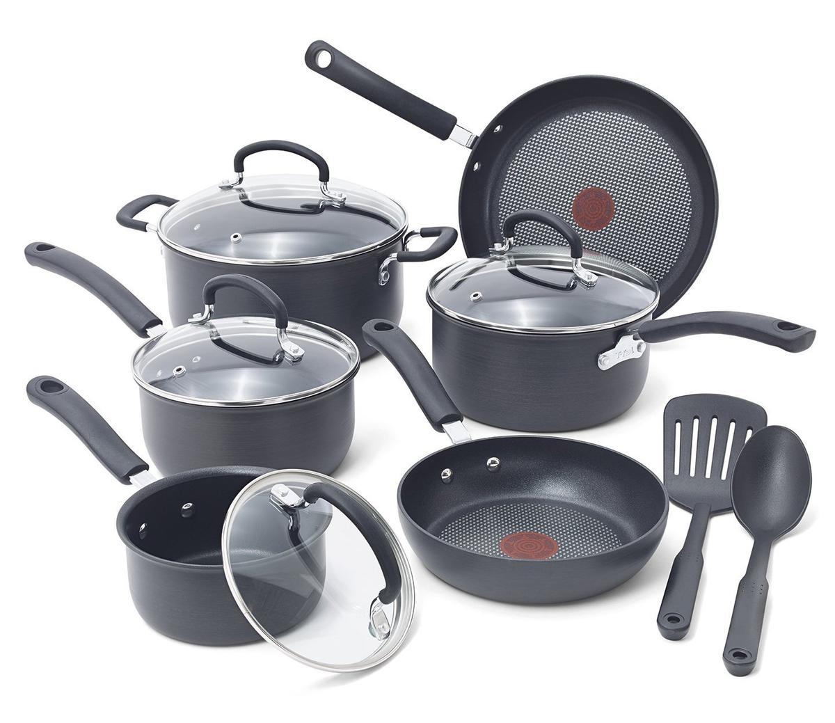 T-fal ティファール チタン ノンスティック 焦げ付かない 鍋 フライパン 6種類 セット 海外 キッチン用品