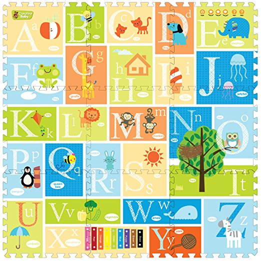 Creative Baby プレイマット ジョイントマット アルファベット 子供 幼児 インテリア 知育玩具 英語 おもちゃ