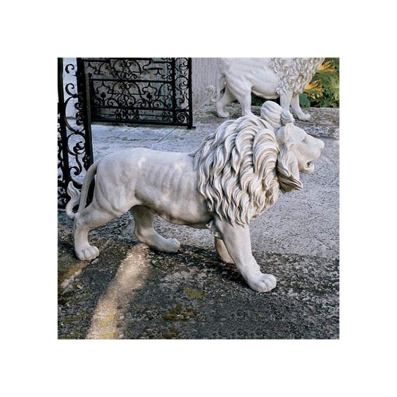 動物 ライオン 1匹 単品 玄関 ライオン ゲート アート 彫刻 屋外 ホーム オブジ インテリア エクステリア 屋外 庭 ガーデン 飾り 石像 オブジ, 【公式ショップ】:d46d3496 --- sunward.msk.ru