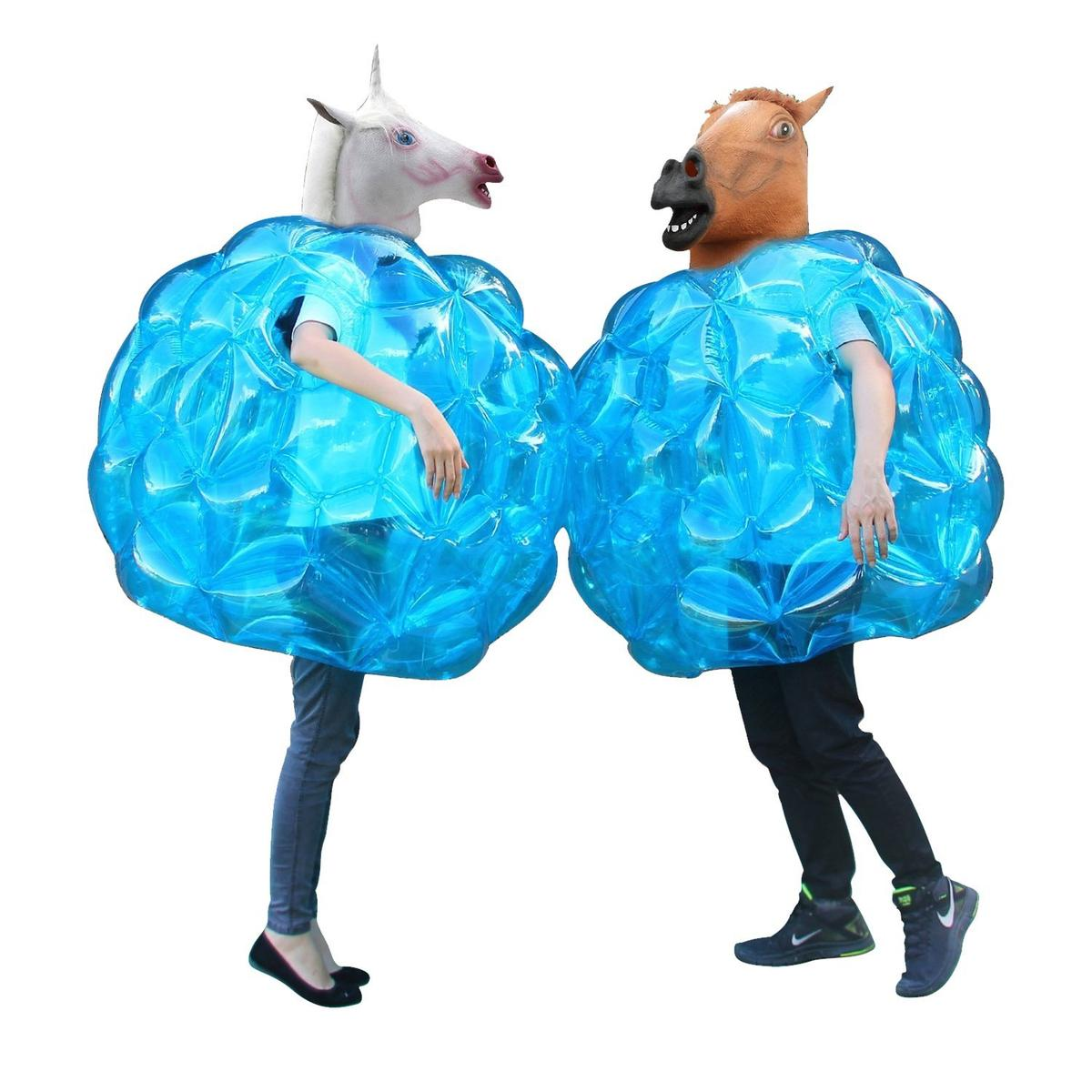 バンパーボール 青 2個 セット 大人 子供 バブルサッカー グッズ