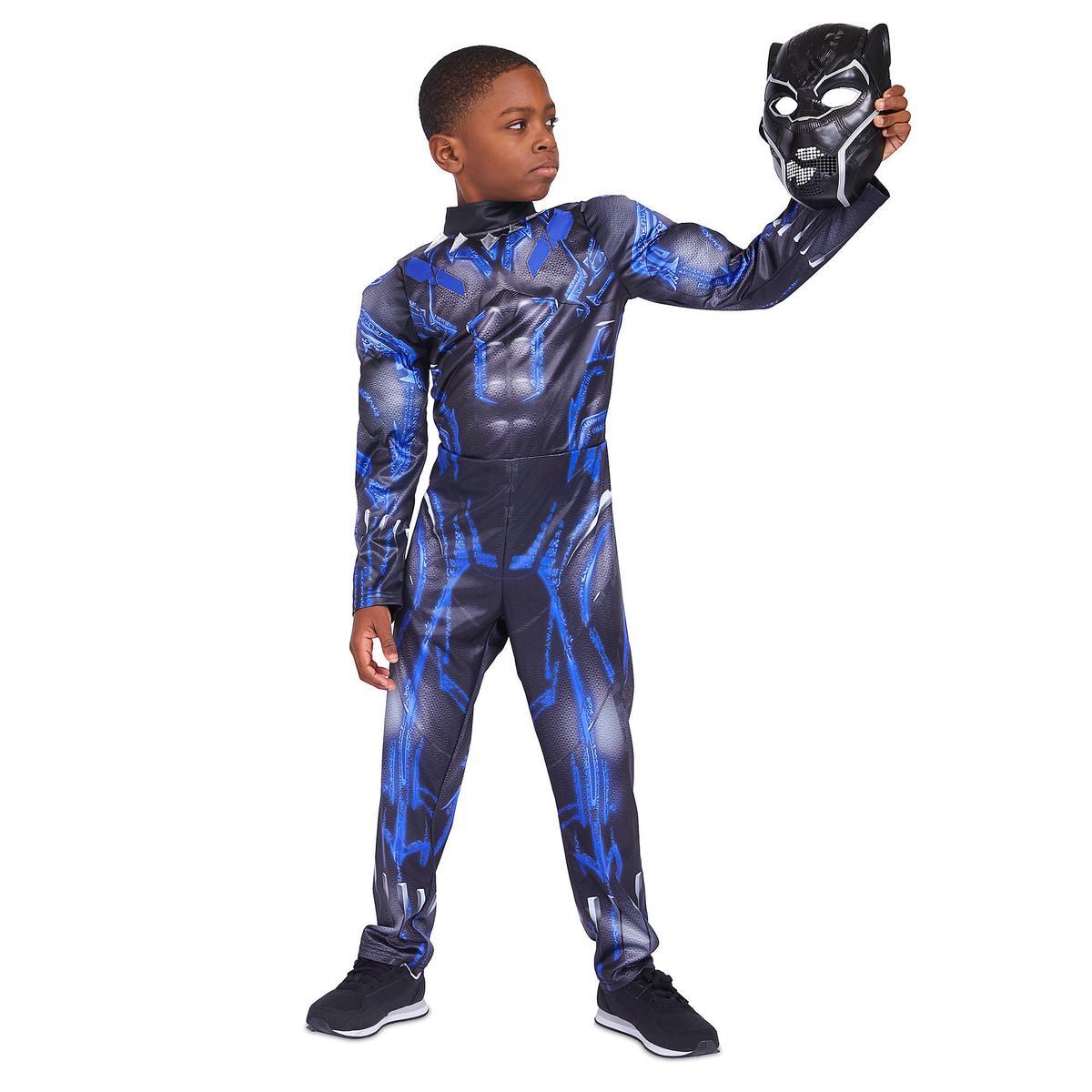 ブラックパンサー 光る コスチューム 子供 男の子 マーベル アメコミ ヒーロー コスプレ 仮装 衣装