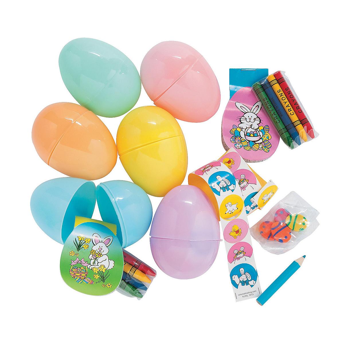 イースターエッグ プラスチック セット 7.6cm 24個 おもちゃ入り イースター エッグハント
