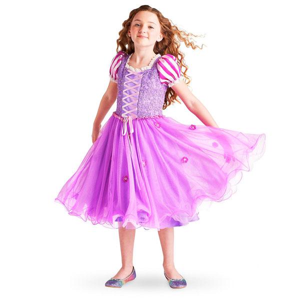 ディズニー コスチューム 子供 塔の上のラプンツェル オーロラ姫 ドレス プリンセス シグネチャー コレクション パーティー イベント 誕生日