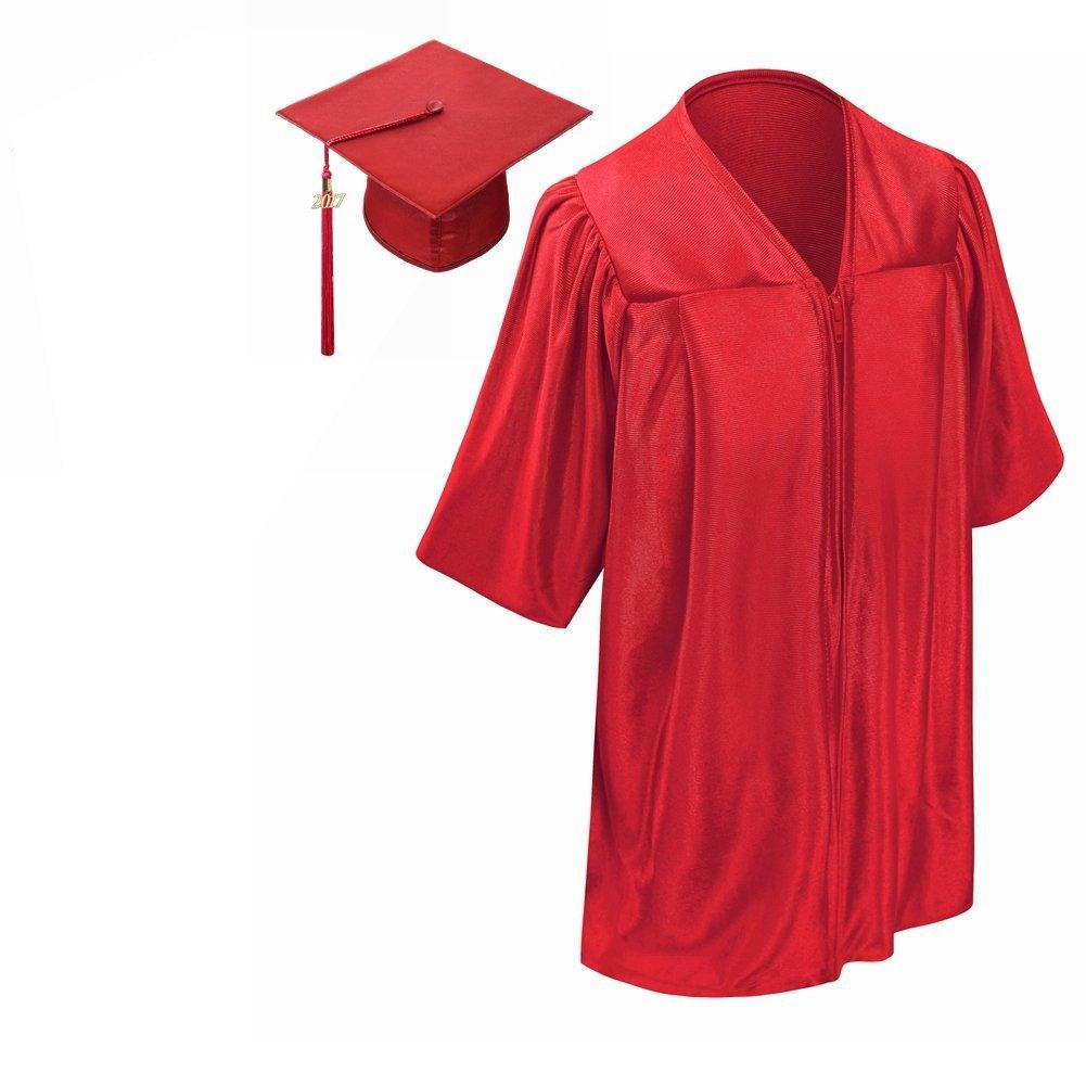 卒業式 スーツ ガウン アカデミックドレス 帽子 セット 2019 子供 赤 海外 コスプレ 仮装 衣装
