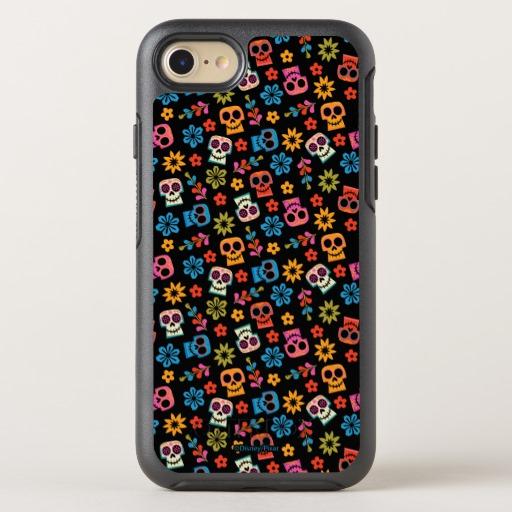 スマホ ケース ディズニー リメンバー ミー スカル & フラワー スマートフォン ケース Apple iPhone 8 7 8Plus 7Plus 6 6s 6Plus Samsung Galaxy S8