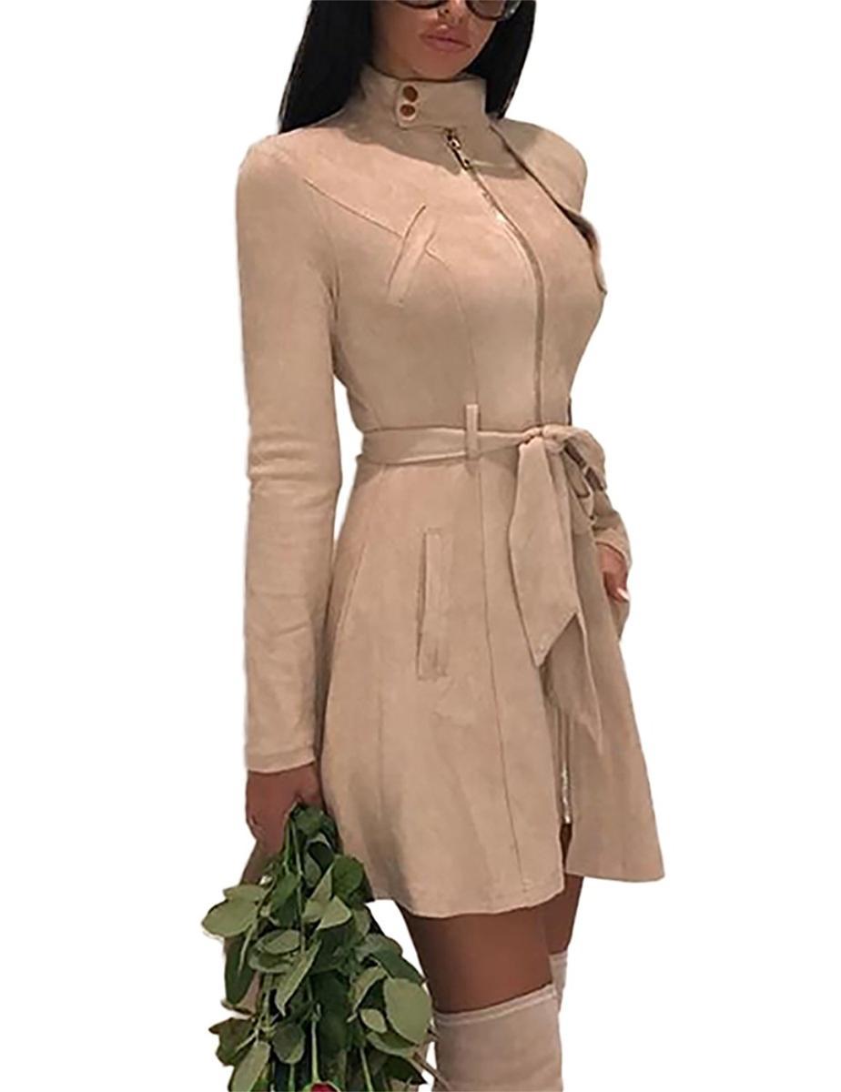 Ninimour スプリングコート レディース ヌーディベージュ ジャケット アウター アパレル ファッション