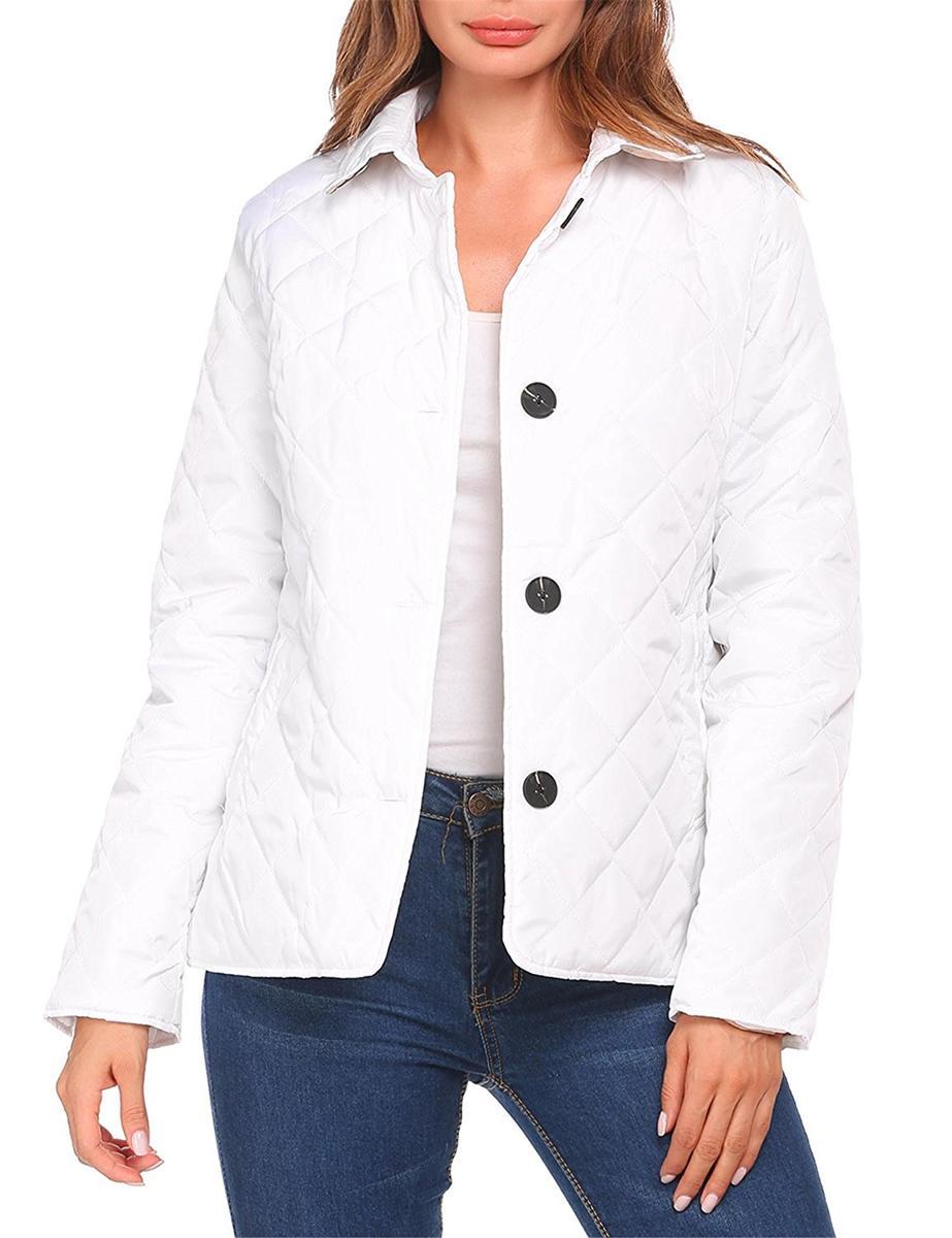 Unibelle ボタンダウン キルト ジャケット 白 レディース シンプル アウター アパレル ファッション