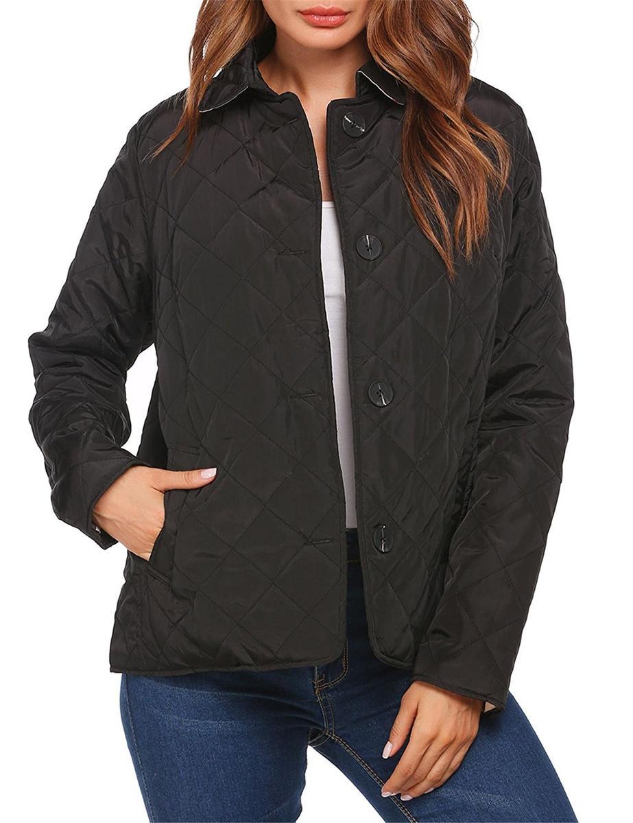 Unibelle ボタンダウン キルト ジャケット 黒 レディース シンプル アウター アパレル ファッション