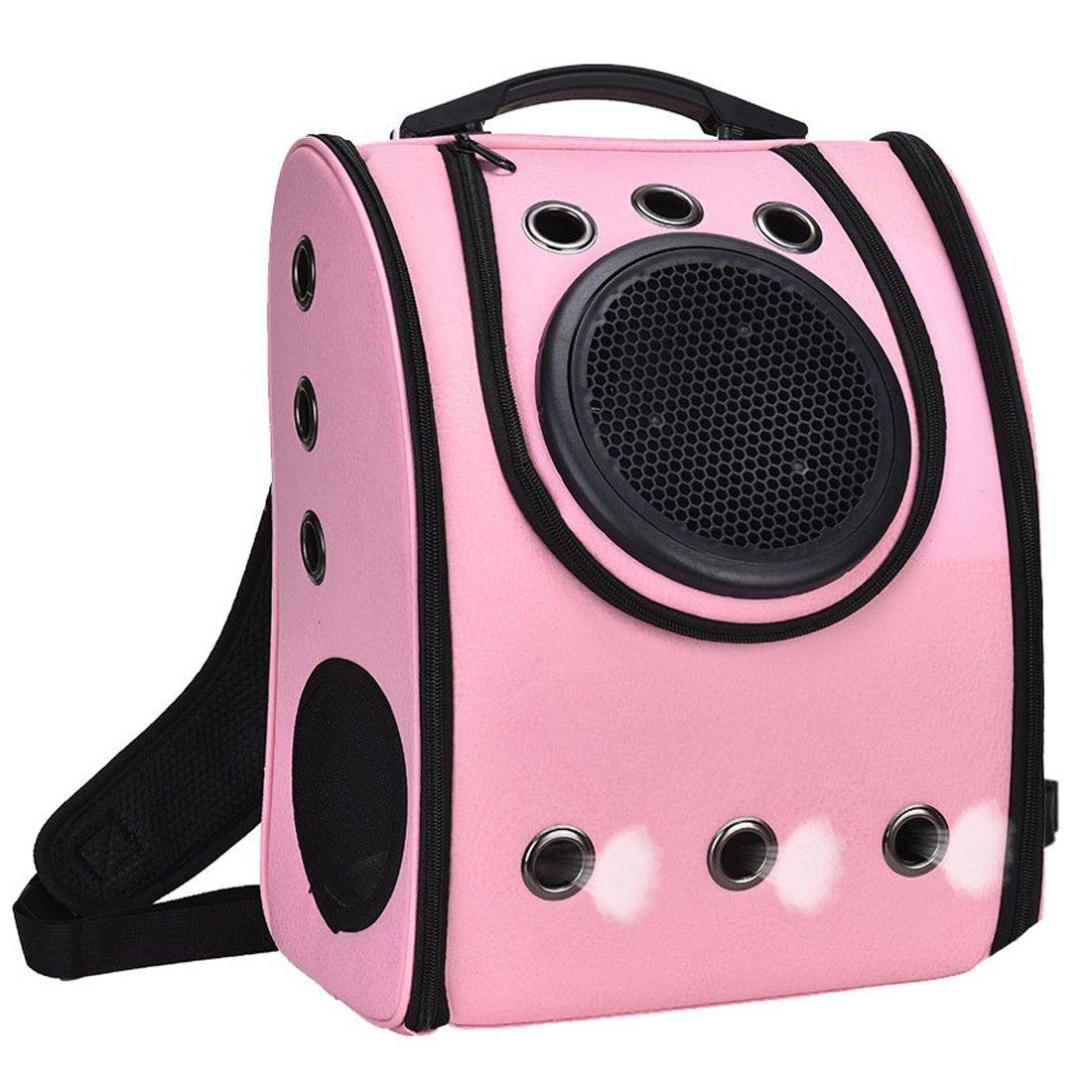 ペット お出かけ お散歩 リュック ピンク 犬 猫 持ち運び キャリーバッグ