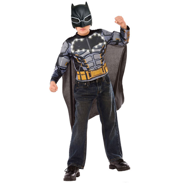光る! バットマン ライトアップ 子供 コスチューム トップ マスク マント ハロウィン イベント パーティー ごっこ遊び