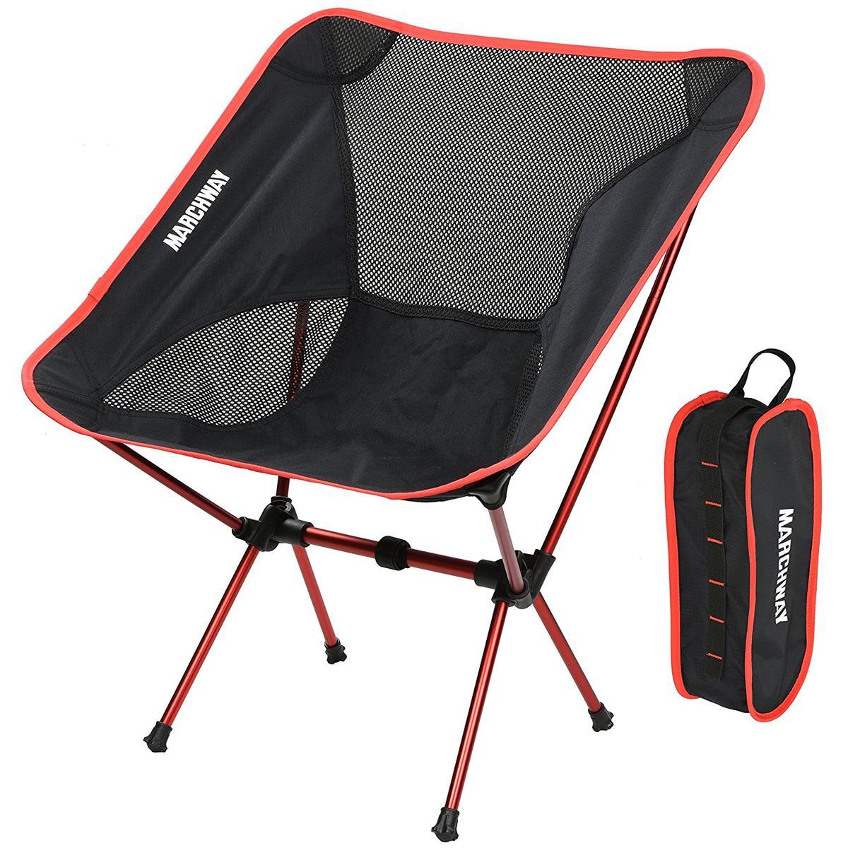 【オープニング 大放出セール】 アウトドア キャンプ 椅子 椅子 赤 軽い 折りたたみ 軽い 海外 MARCHWAY キャンプ グッズ, アイショップキラリ:642db537 --- supercanaltv.zonalivresh.dominiotemporario.com