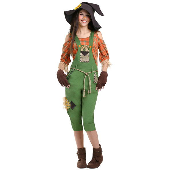 オズの魔法使い かかし 大人 レディース コスチューム 案山子 ハロウィン かわいい 衣装 イベント パーティー