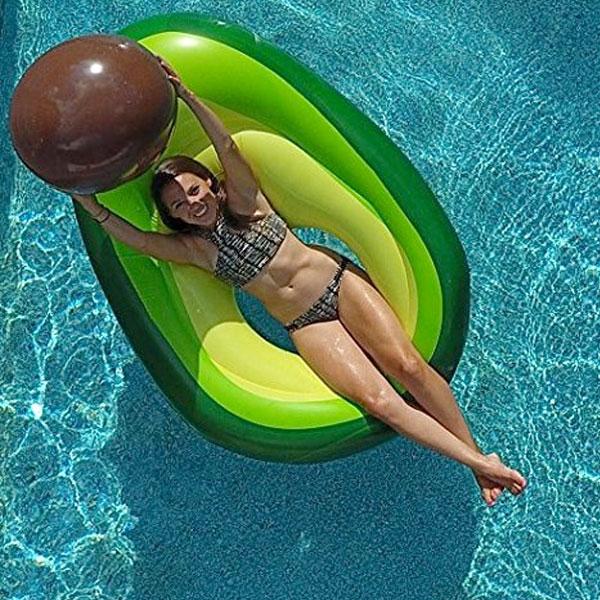 浮き輪 アボカド 面白い ビーチボール 付き 浮輪 ジャンボ フロート 大きい
