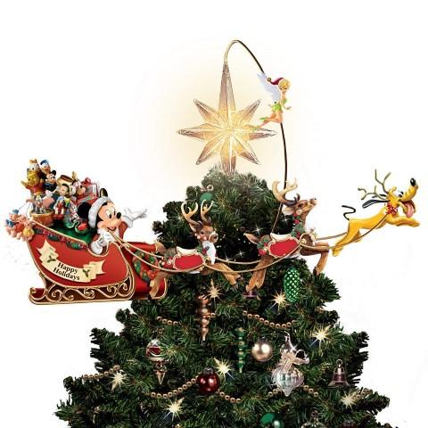ディズニー クリスマスツリー トッパー タイムレス ホリデー トレジャー インテリア 飾り オーナメント ウインター シーズン