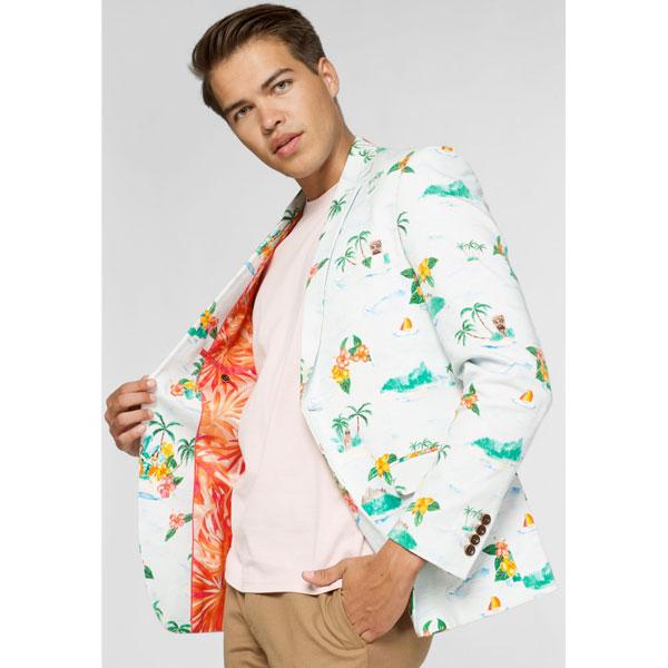 オッポスーツ トロピカル ハワイアン メンズ ジャケット 大人 パーティー 衣装