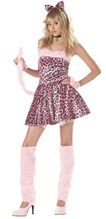 ピンク ヒョウ柄 ドレス ジュニア ティーン コスチューム ハロウィン イベント パーティー ねこみみ