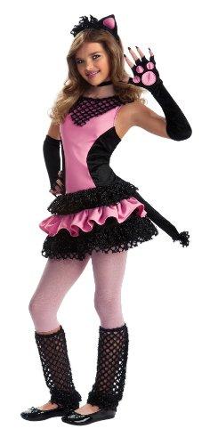 ネコ ピンク&ブラック ドレス ジュニア ティーン コスチューム ハロウィン イベント パーティー ねこみみ