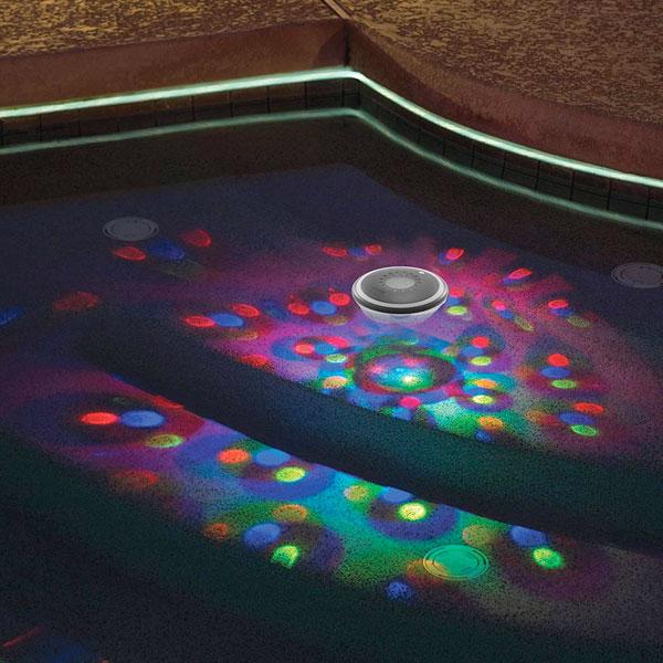 ナイトプール 光る ソーラー 水中 ライト プール ミラーボール ディスコ 通常便は送料無料