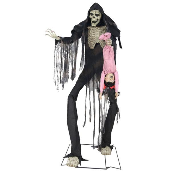 女の子を吊るした ブギーマン 巨大な等身大フィギュア 子取り鬼 ハローウィン 飾り 通常便は送料無料