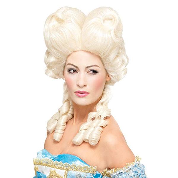 マリーアントワネット かつら ウィッグ ライトブロンド 髪の毛 大人用 コスプレ レディース 貴族 中世 ヨーロッパ 王妃 演劇 舞台 仮装 変装 小道具 通常便は送料無料