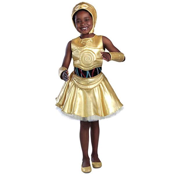 スターウォーズ C-3PO 子供用 キッズ コスチューム 衣装 コスプレ 女の子 ドレス ハロウィン 仮装 通常便は送料無料