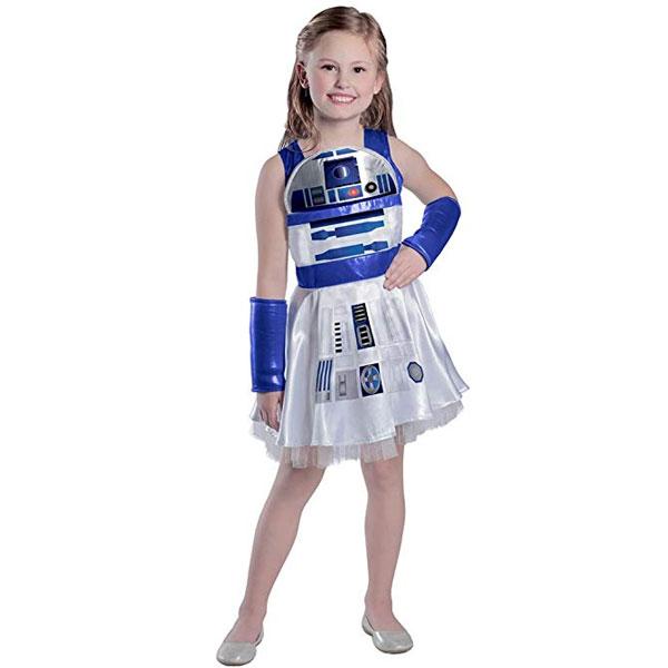 スターウォーズ R2D2 子供用 キッズ コスチューム 衣装 ドレス コスプレ 女の子 ハロウィン 仮装 通常便は送料無料