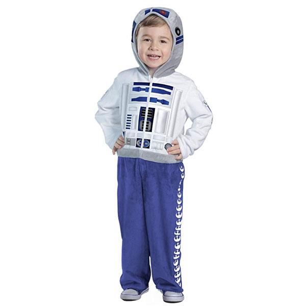 スターウォーズ R2D2 子供用 キッズ コスチューム 衣装 ジャンプスーツ コスプレ 男の子 ハロウィン 仮装 通常便は送料無料