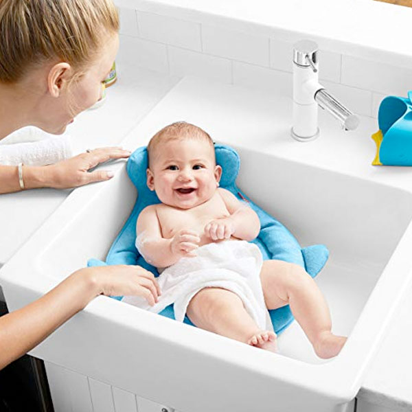 スキップホップ ベビー バス シャワー クッション ソフト スポット 赤ちゃん バスタブ シンク 通常便は送料無料