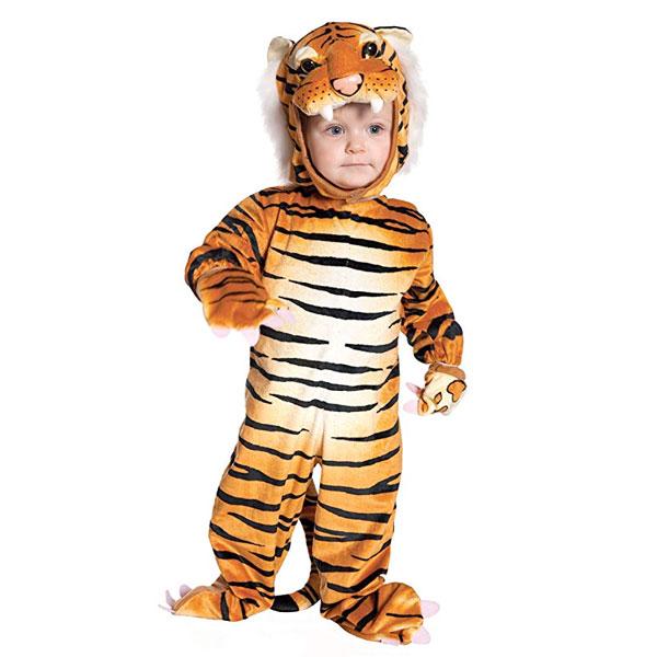 タイガー ベビー 子供用 コスチューム 衣装 かわいい ハロウィン 仮装 コスプレ 写真撮影 赤ちゃん 通常便は送料無料