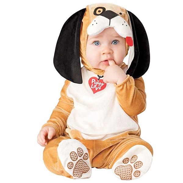 子犬 パピー 犬 子供 ベビー用 コスチューム 衣装 かわいい ワンチャン ハロウィン 仮装 動物 写真撮影 赤ちゃん 通常便は送料無料