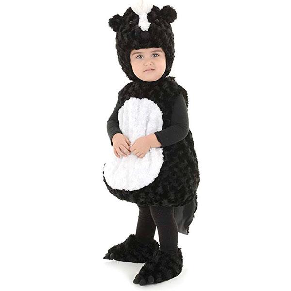 スカンク子供用 コスチューム 衣装 もふもふ かわいい 記念写真 ハロウィン 動物 仮装 コスプレ 通常便は送料無料
