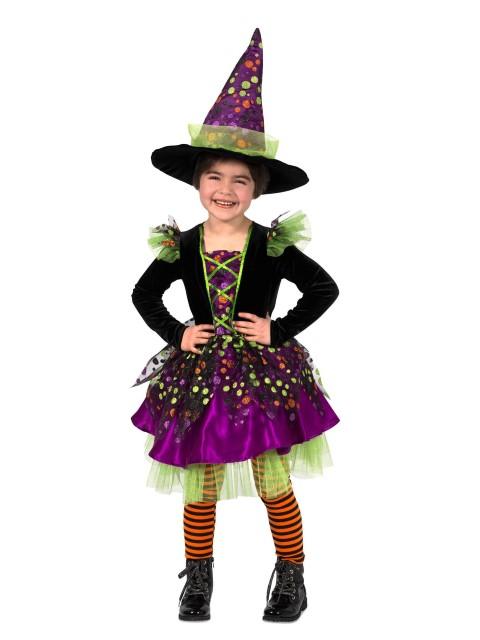 魔女 コスチューム ハロウィン かわいい 楽しい コスプレ 子供 ドッティー